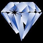 Diamant knop